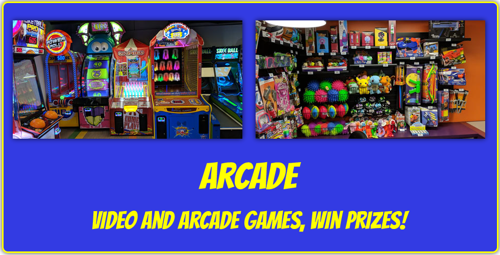 arcade video games and arcade games win prizes