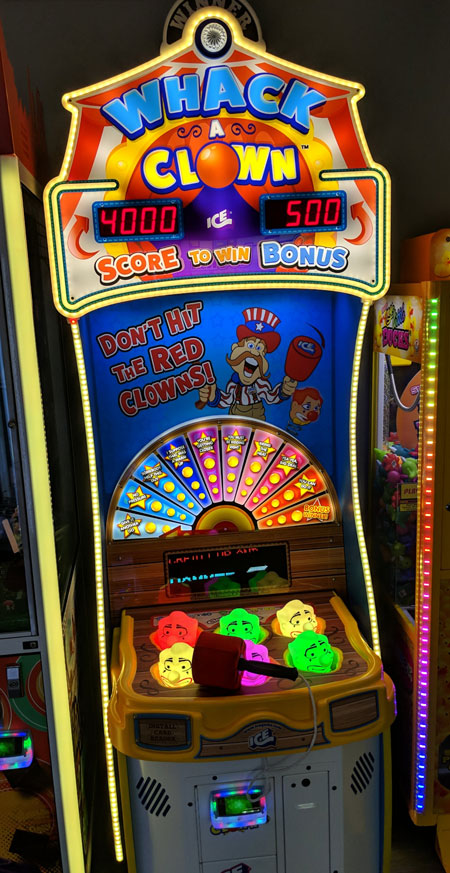 whack a clown arcade game