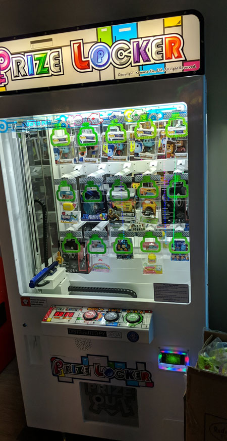 prize locker arcade game