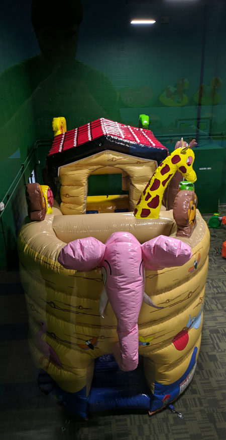 noah's ark bounce house obstacle course