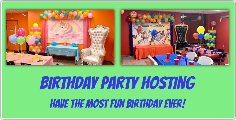 child birthday party hosting. have the most fun birthday ever!