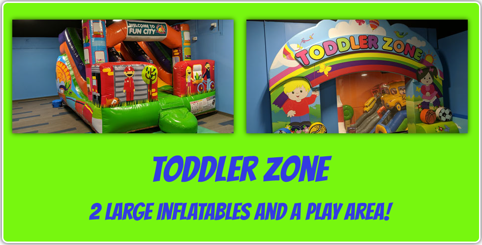 toddler play area zone 2 large inflatables and a play area